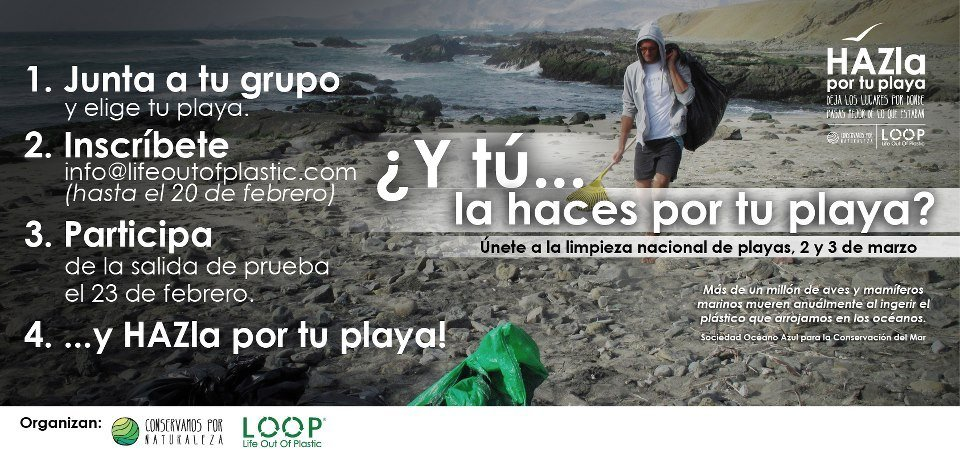 Primera Cruzada Nacional de Limpieza de playas: HAZla por tu playa
