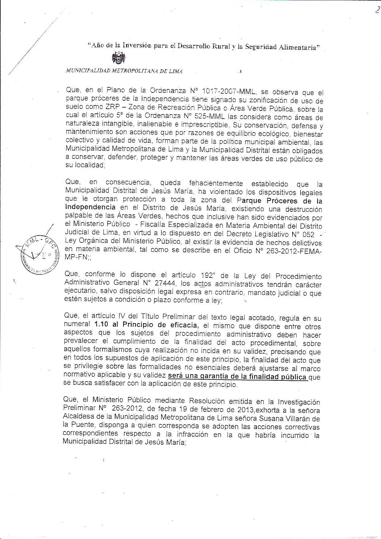 Resolucion Lima 2