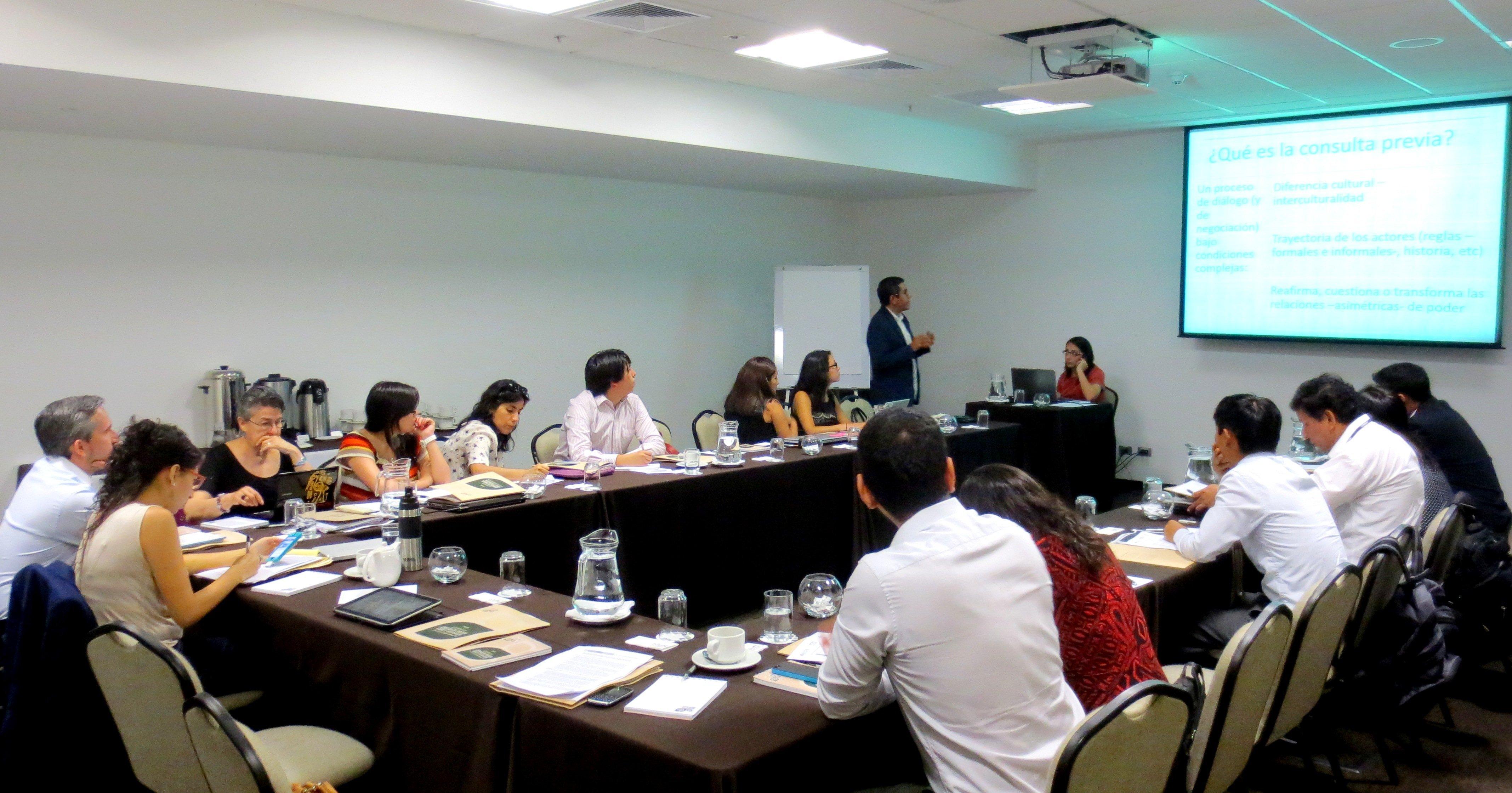 Realizan taller internacional sobre consulta previa