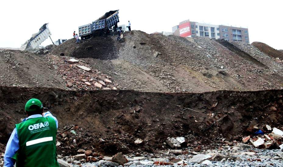 OEFA denuncia a la Municipalidad de San Miguel por inadecuada disposición de residuos de construcción