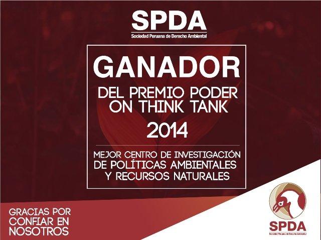 SPDA ganó Premio PODER al Think Tank del Año 2014 en la categoría Políticas Ambientales y Recursos Naturales