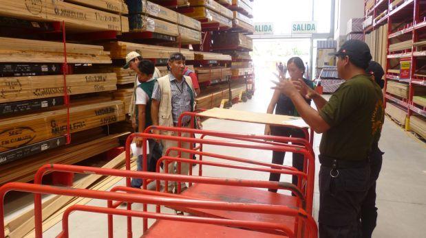 Incautan 10 mil tablares madera a Maestro y Promart por presunta procedencia ilegal