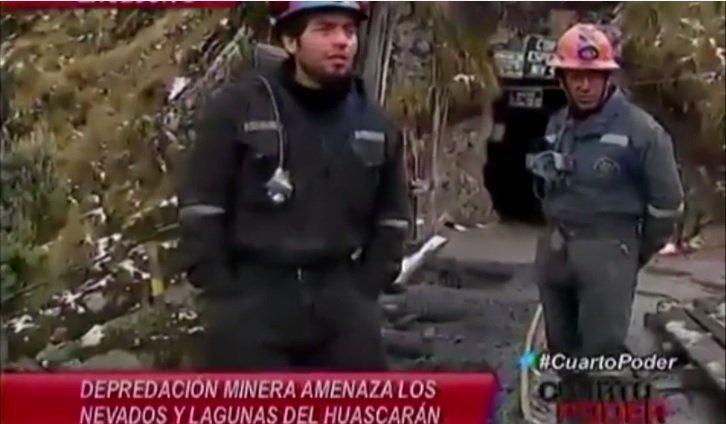 mineros en Huascarán