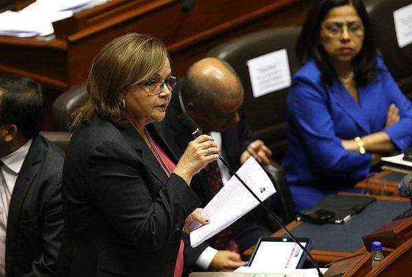 Rosa Ortiz, Ministra de Energía y Minas. Foto: Andina