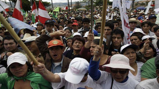 Protesta Tía María_Islay. Foto: Perú 21