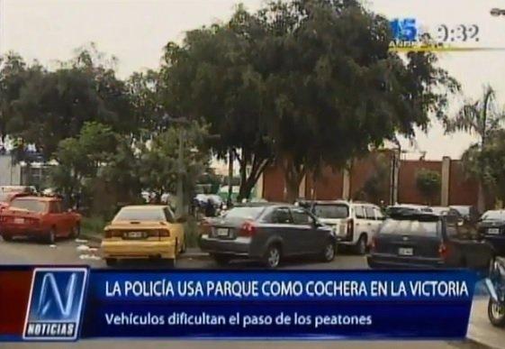 PNP invade parque en La Victoria