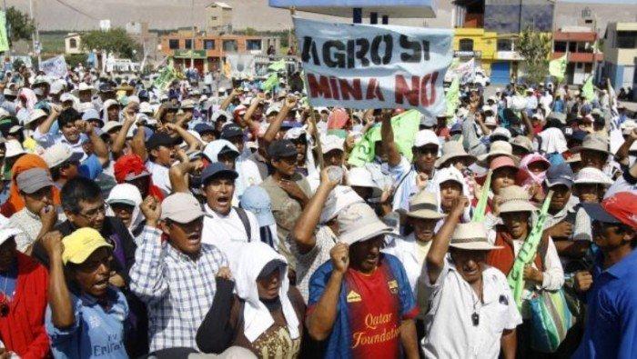 Protesta contra Tía María. Foto: Perú 21