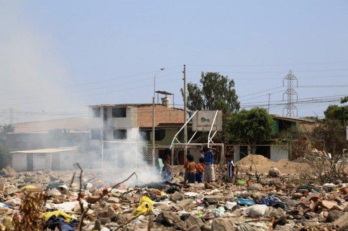 basura en villaria
