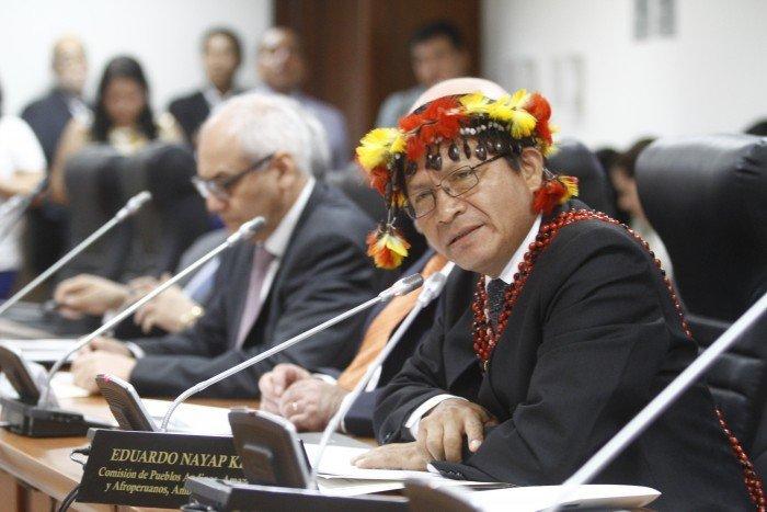 Congresista Eduardo Nayap. Foto Congreso de la República