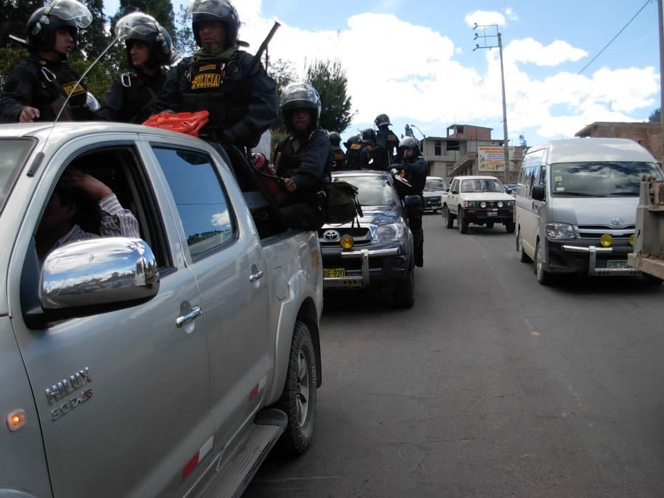 Cerca de mil efectivos fueron destinados a Cajamarca / Foto: Ydelso Hernández