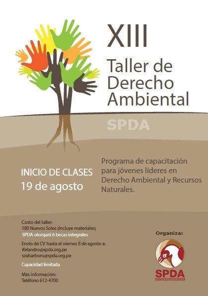13 taller de derecho ambiental - SPDA
