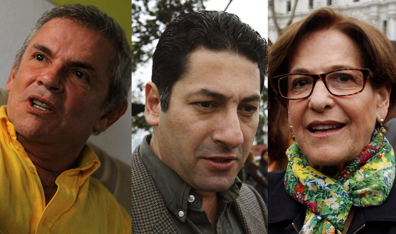 Los tres candidatos