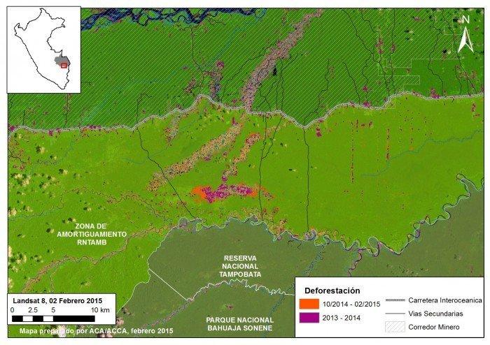Mapa de deforestación en La Pampa