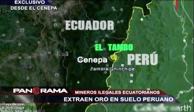 minería ilegal_frontera con Ecuador