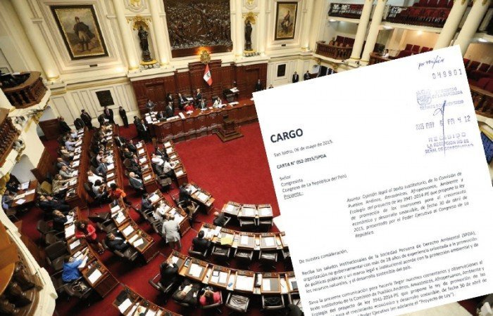 carta de la SPDA al congreso