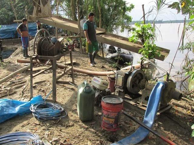 Minería ilegal Bolivia río Suches. Foto RPP