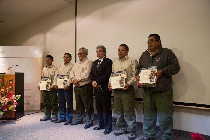 Reconocimiento del Minam y Senanp para guardaparques destacados.
