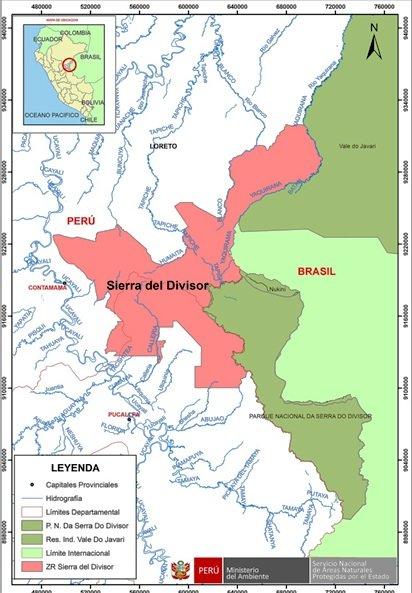Ubicación de Sierra del Divisor