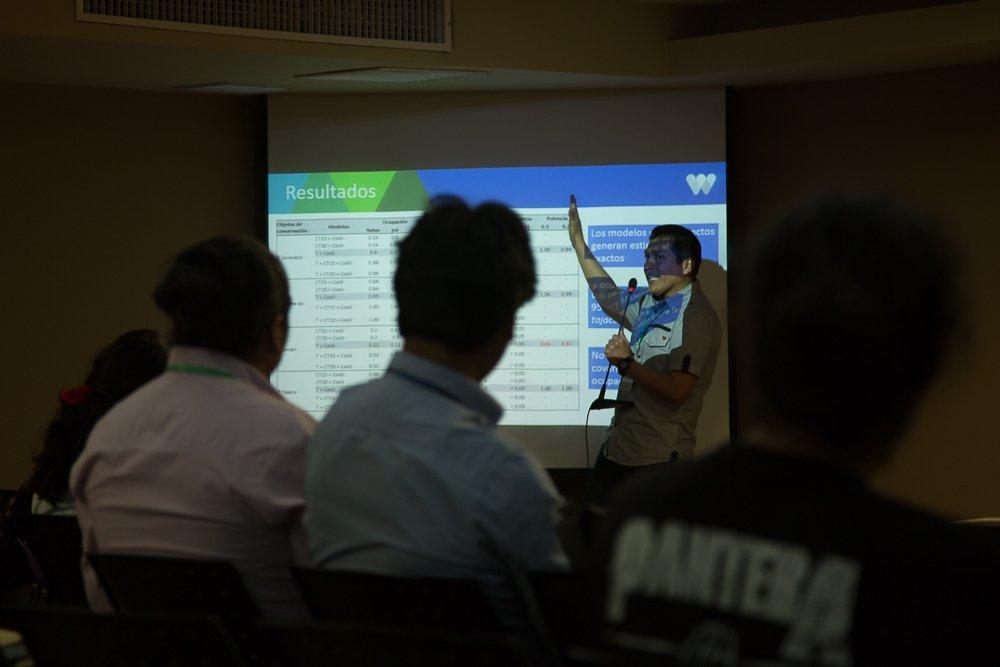 Sernanp presentó sus experiencias de conservación en la RN Pucacuro durante el Simposio internacional Biocon Lima 2015.