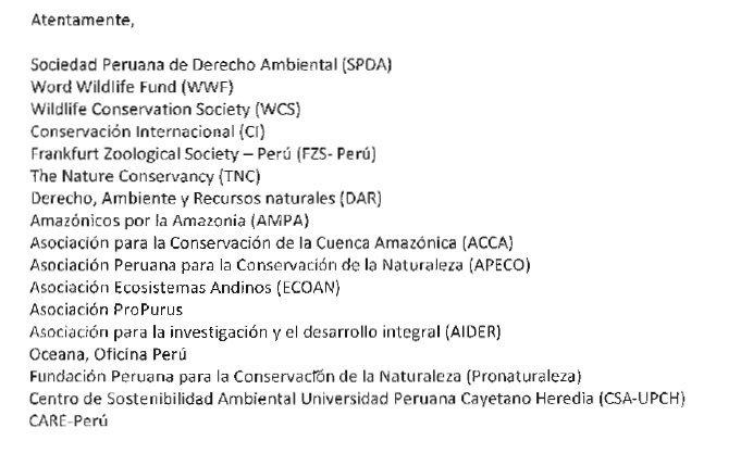 Instituciones firmantes