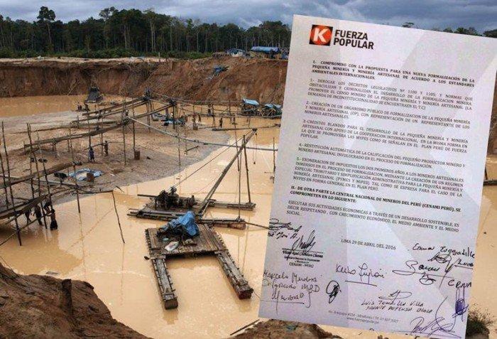 fuerza popular y la minería ilegal