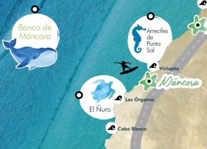 pacífico tropical - mapa