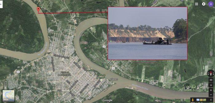 Referencia_Google Maps_minería ilegal_Puerto Maldonado