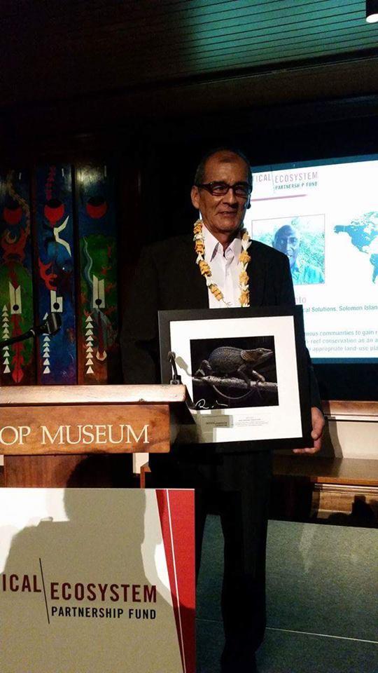 Premiación de Víctor Zambrano en Hawaii_CEPF_Foto K'erenda Zambrano