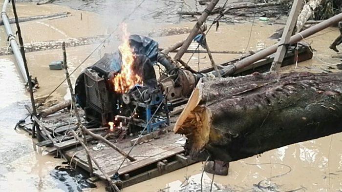 Madre de Dios: Poder Judicial liberó seis presuntos mineros ilegales_2
