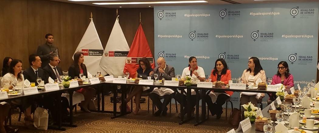 Ratificación de compromisos para la transversalización del enfoque de género en la gestión del recurso hídrico en las políticas públicas.